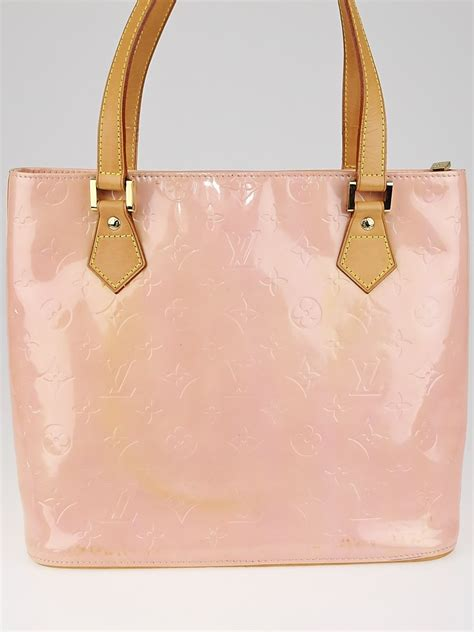 louis vuitton baby pink monogram vernis houston bag