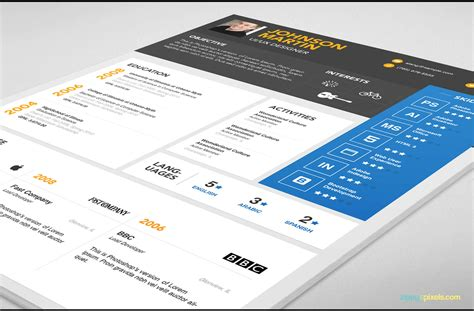 psd resume cover letter template  designers  color