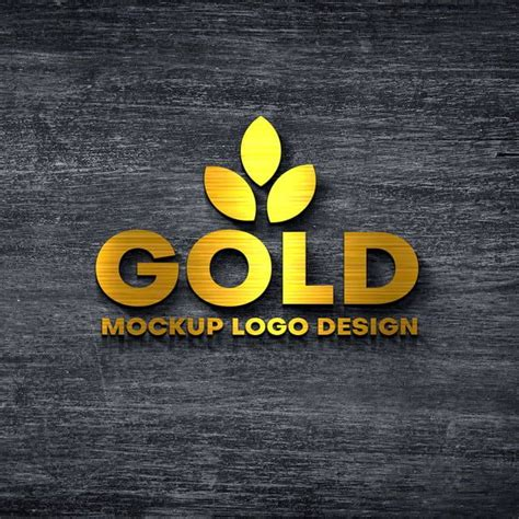 mockup logo gold    logo mockup  logo