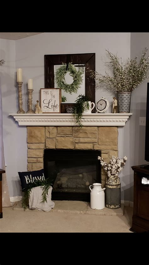 Decorating Ideas For Fireplace Mantel by Decorating Mantle Decorating Idea In 2019