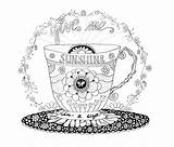 Coloring Starbucks Coffee Cup Printable Sunshine Adult Drawing Cups Patterns Pretty Pattern Getdrawings Getcolorings Template sketch template