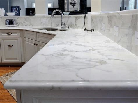 marble look countertops kitchen carrara white granite caesarstone