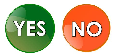 Yes No Button · Free Image On Pixabay