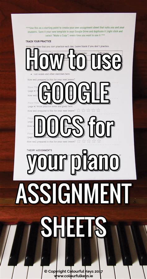 assigning  advance piano homework  lesson plan