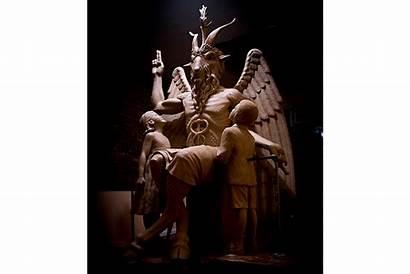 Baphomet Statue Satanic Detroit Monument Unveiled Usa
