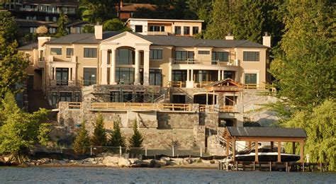seattle mansions mercer island mansion  million