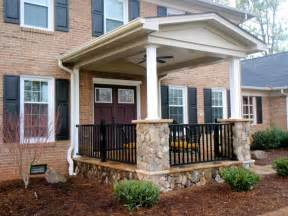 Exterior Cool Picture Front Porch Decoration Aged Light Brown Brick Front Porch Wall Front Porch Designs For Minimalist House