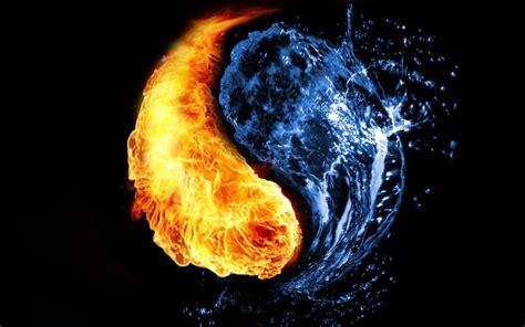 fire vs ice wallpaper