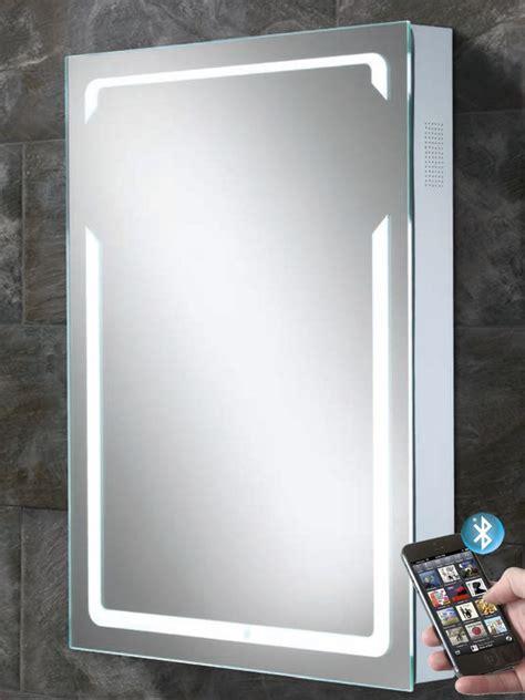 Bluetooth Bathroom Mirrors by Vibe Illuminated Bluetooth Bathroom Mirror With Built In