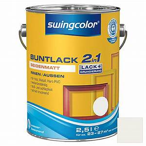 Swing Color Farben : swingcolor 2in1 buntlack wei 2 5 l seidenmatt bauhaus ~ A.2002-acura-tl-radio.info Haus und Dekorationen