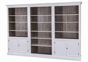 Bibliothèque Avec Porte : acheter votre biblioth que en pin massif blanche avec porte et tag re chez simeuble ~ Teatrodelosmanantiales.com Idées de Décoration
