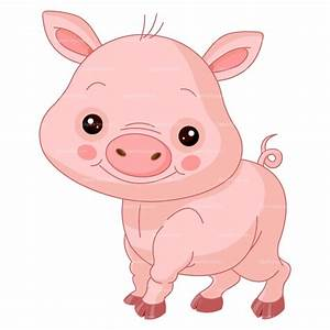 Cute Baby Pig Clipart - Clipart Suggest