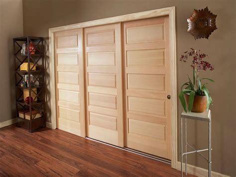 Triple Track Sliding Closet Doors  Home Design Ideas