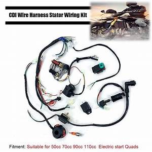 New Cdi Wire Harness Stator Assembly Wiring Fit 50 70 90