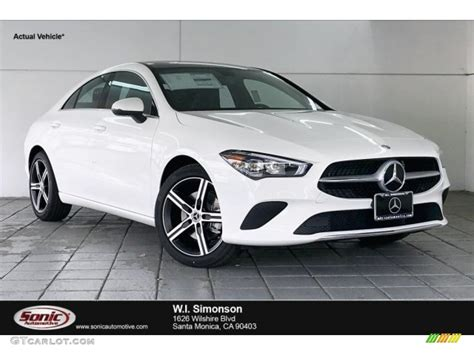 A modernized interior joins a solid and playful chassis. 2020 Polar White Mercedes-Benz CLA 250 Coupe #136709519   GTCarLot.com - Car Color Galleries