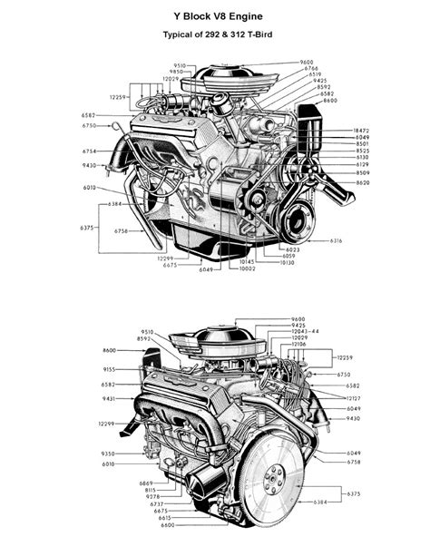 Ford V8 Engine Diagram by Flathead Parts Drawings Engines