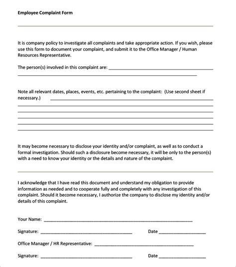 23 hr complaint forms free sle exle format