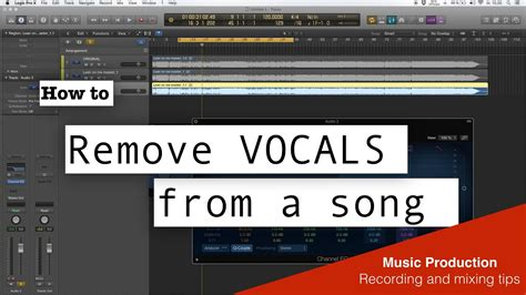 How To Remove Vocal From A Song  Easy  Logic Pro X Youtube