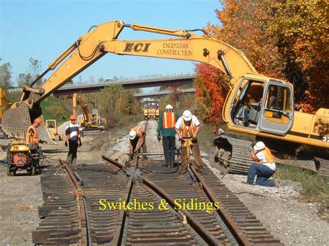 railroad construction eci engineers construction