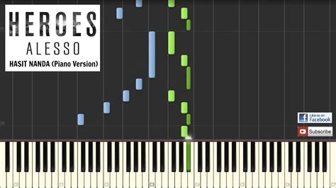 alesso heroes piano tutorial sheets youtube