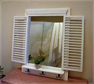 Spiegel Weiß Holzrahmen : landhaus spiegel wei interessante ideen f r die gestaltung eines raumes in ihrem ~ Indierocktalk.com Haus und Dekorationen
