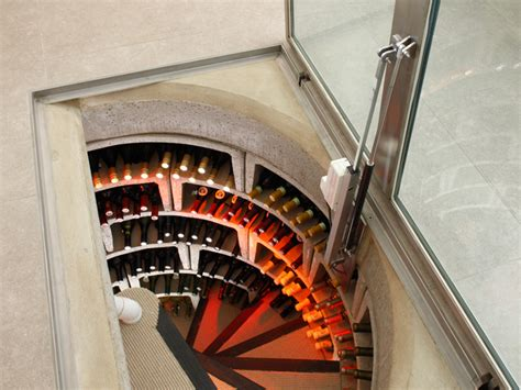 spiral cellers spiral cellars with led lighting