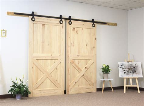 diyhd ft gear shape double sliding barn door interior