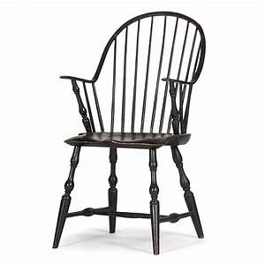 Continuous Arm Windsor Chair Signed A. Thayer