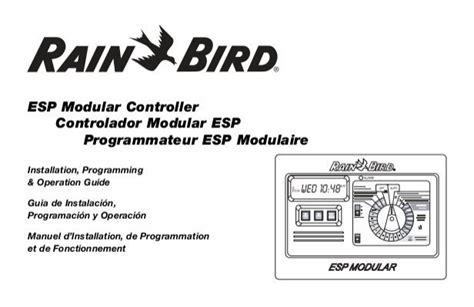 espmod manual  rain bird