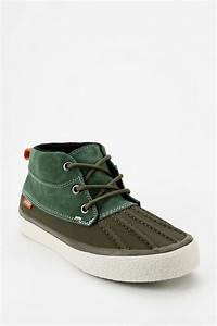 Urban outfitters Vans California Duck Womens Sneaker-boot in Green | Lyst