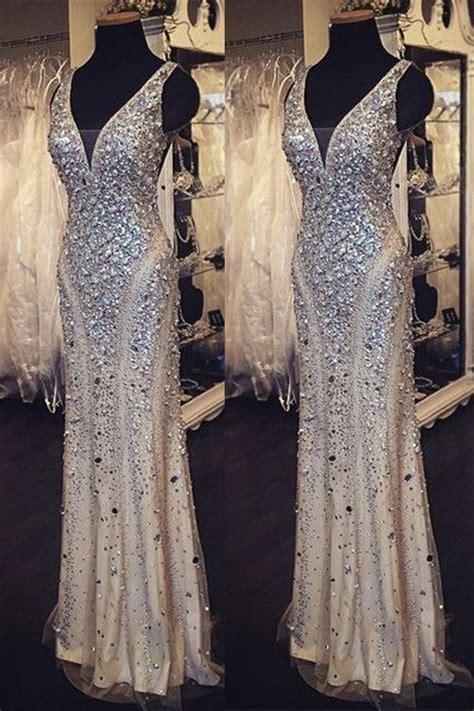 grey cotton dress paired with shiny black sequin shiny beading prom dresses v neck prom dress
