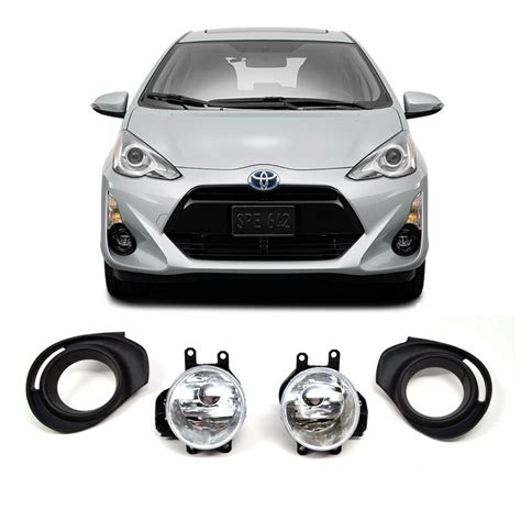 Toyota Prius Chrome Clear Front Bumper Driving Fog