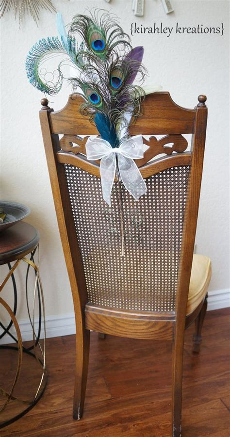 Peacock Pew Bows Ceremony Aisle Decoration Bride And
