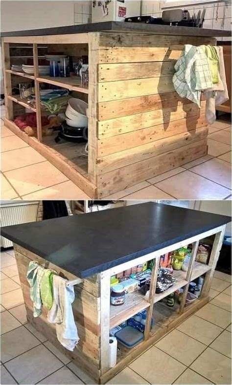 kitchen island from pallets 15 creative gorgeous wood pallet kitchen island ideas 5071