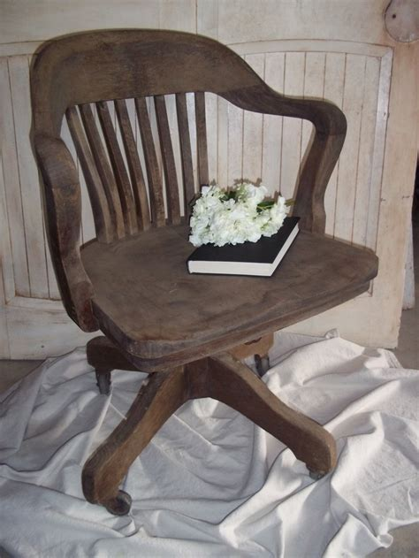 antique wooden swivel desk chair vintage wood office chair swivel tilt rolling antique