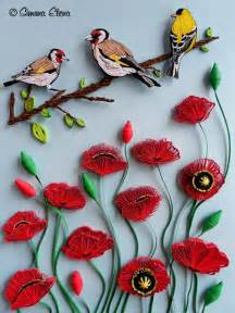 Bird Paper Quilling Flowers