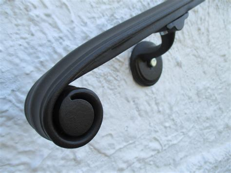 12 Ft Wrought Iron Wall Mount Hand Rail Classical Volute