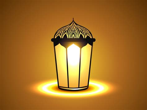 Free Islamic Picture by Simple Islamic Background With Lantern Vector Free