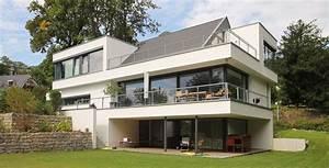 Haus Bauen Beispiele : architektenhaus satteldach in moderner architektur bauen beispiele f r domineo pinterest ~ Markanthonyermac.com Haus und Dekorationen