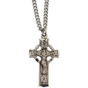 personalized trays sterling silver small celtic crucifix the catholic company