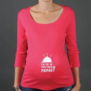 T Shirt Avec Message : t shirt de grossesse message pour gourmande ~ Nature-et-papiers.com Idées de Décoration