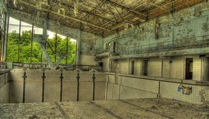 Abandoned Ghost Pool Swimming Town Chernobyl Pripyat
