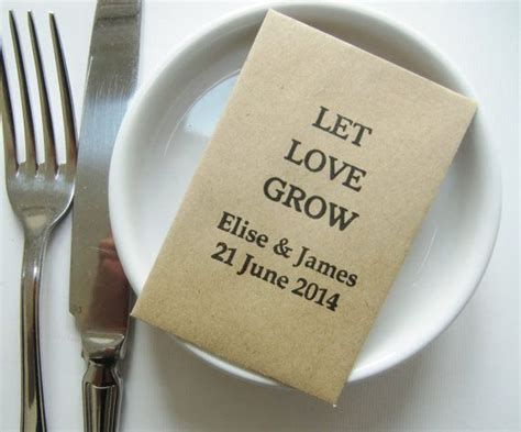 wedding seed packet favors wedding favors kraft packets