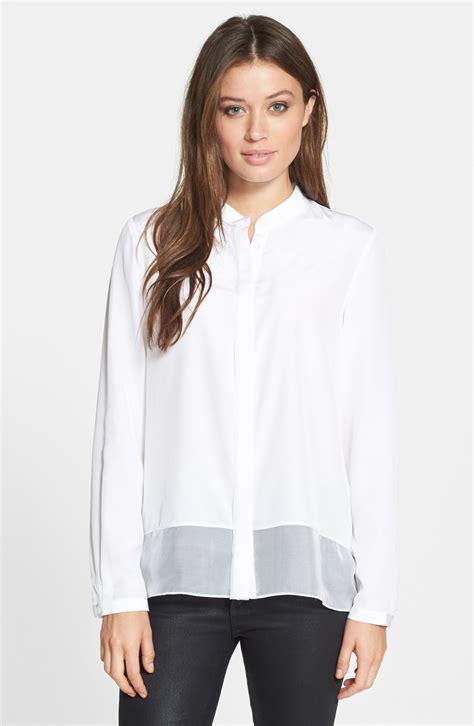 silk white blouse elie tahari mona silk blouse in white lyst