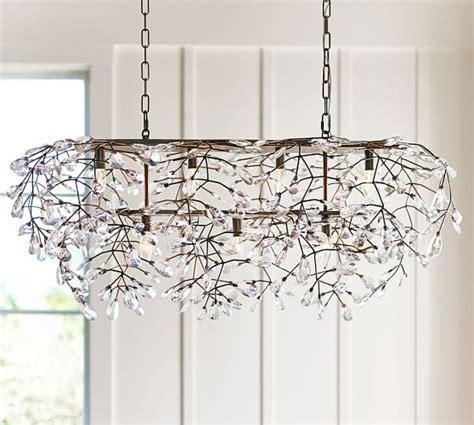 rectangular chandelier rectangular chandelier pottery barn