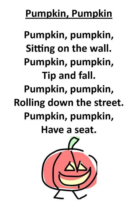 itty bitty rhyme pumpkin pumpkin we use this one often 366   ef5da4d4a902b0518643a0a38ac374ec preschool songs fall preschool