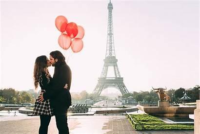 Paris Couple Eiffel Tower Propose Romantic Romance
