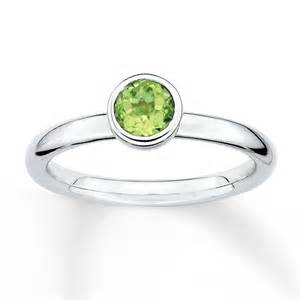 stackable personalized rings jared stackable peridot ring sterling silver