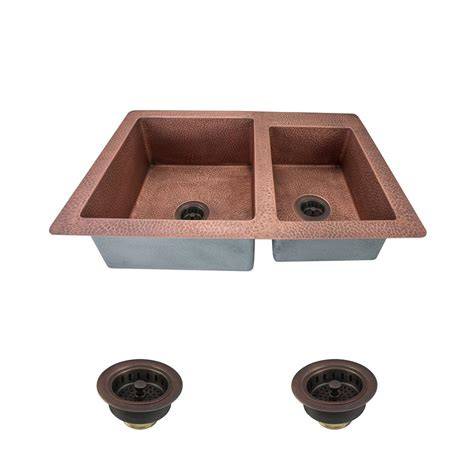 kitchen sinks direct mr direct all in one undermount copper 33 in bowl 3004