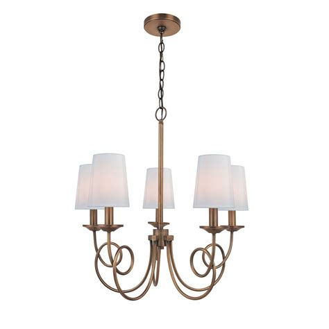 Chandelier Light Covers by Illumine 5 Light Pewter Chandelier With White Candle